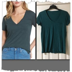 Madewell Whisper Thin V-Neck Pocket Tee